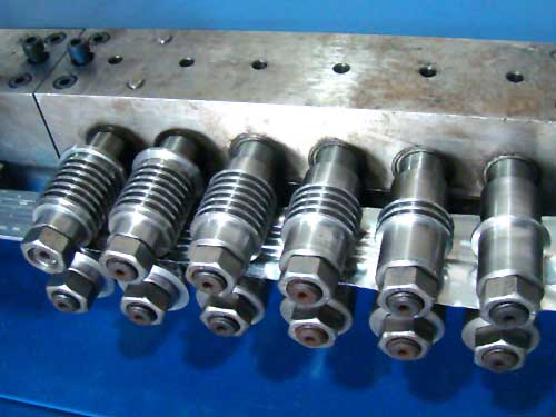 aluminum duct forming machine rollers