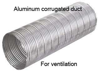 aluminum wounded duct